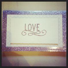 Beautiful purple and silver wedding card