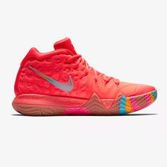 new product e8e75 1efd5 Details about Nike Kyrie 4 Lucky Charms Men s Size 9 Basketball Shoes Red  Cereal BV0428-600 IV