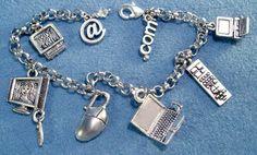 Computer Geek Charm Bracelet