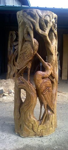 Wood carding door / art