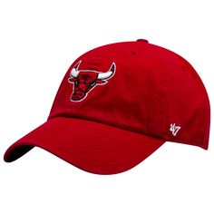 1f80e28ec83 Chicago Bulls Red Primary Logo Clean Up Adjustable Hat