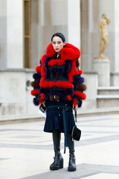 Street Style of Paris: Mademoiselle Yulia #sacai | More photo at Fashionsnap.com