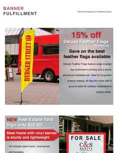 Hot Deal: 15% off Deluxe Feather Flags!