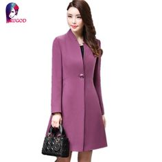 >> Click to Buy << Women's Coats 2016 Winter Trench Coats Solid Plus Size Overcoat Autumn Long Sleeve Stand Collar Slim Windbreaker Outerwear #Affiliate