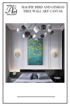 A beautiful decorative piece like this can easily give your home a pleasant and relaxing atmosphere while adding a modern-style aesthetic appeal. These Chinese style cool Magpie Bird and Ginkgo Tree wall art will make your guests smile. All of our eye-catching artworks are printed on cotton canvas with fade-resistant, waterproof inks so that you can enjoy them for many years to come. Tree Wall Art, Canvas Wall Art, Asian Wall Art, Child Day, Magpie, Chinese Style, Game Room, Cotton Canvas, Artworks
