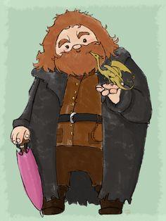 Hagrid and Norbert by blackbonny on deviantART