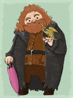 Hagrid and Norbert by blackbonny on deviantART