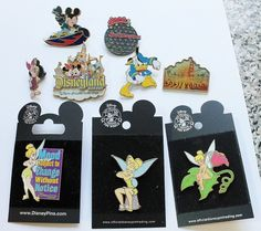 DISNEY TRADE PIN LOT COLLECTION Tinkerbell, Mickey, Donald, Piglet & More