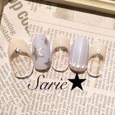 夏/ハンド/星/ホワイト/ジェルネイル - sarieのネイルデザイン[No.1012627]|ネイルブック