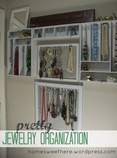 Jewelry Organization with a cutlery organizer.