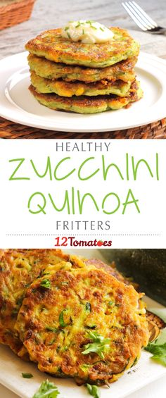 Zucchini Quinoa Fritters: Packed with protein, calcium, potassium and fiber (thanks to the quinoa, zucchini and white beans), these fritters are pan-fried and full of flavor, so the fact that they provide your body with some serious nutrition is like an added bonus – gotta love it when that happens!