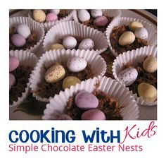 Quick and easy chocolate nests to make with kids using only 2 ingredients perfec. Quick and easy chocolate nests to make with kids using only 2 ingredients perfect for some Spring and Easter Cooking Easter Activities For Kids, Preschool Snacks, Spring Activities, Kid Activities, Chocolate Easter Nests, Cooking Chocolate, Easter Recipes, Egg Recipes, Easter Ideas