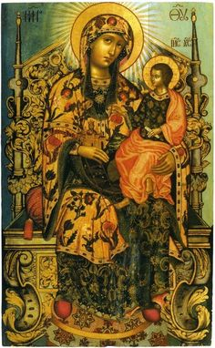 Мастерство Byzantine Icons, Byzantine Art, Religious Icons, Religious Art, Hail Holy Queen, Queen Of Heaven, Russian Icons, Religious Paintings, Book Of Kells