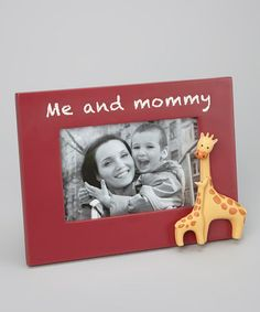 This Grasslands Road 'Me and Mommy' Frame is perfect! #zulilyfinds #GrasslandsRoad #Resin #Glass #Photo #Picture #Stand #Hang #Giraffe #GiftBoxed #GiftIdea #Baby #Girl #Child #RED #Boy