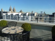 Balcony views over South Kensington in London from the stylish 130 Queens Gate Apartments