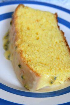 Orange and Passionfruit Pound Cake (Maggie Beer) Beer Recipes, Cake Recipes, Dessert Recipes, Cooking Recipes, Desserts, Recipies, Passion Fruit Cake, Passionfruit Recipes, Bon Dessert