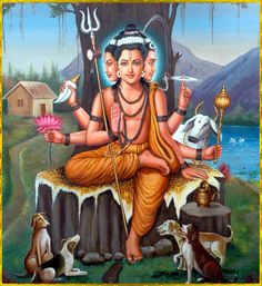 "shivaom: DATTATREYA ॐ ""Dattatreya is at once the incarnation of Vishnu, Shiva and Brahma. Shiva Hindu, Shiva Shakti, Hindu Deities, Hindu Art, Shiva Art, Krishna Art, Lord Krishna, Wallpaper Images Hd, Guru Wallpaper"