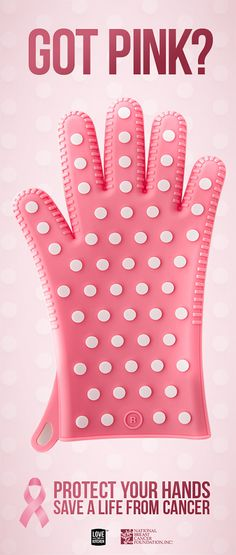 Got PINK? Buy these exclusive Women's Heat Shield Oven Gloves from Love This Kitchen and support the National Breast Cancer Foundation, Inc
