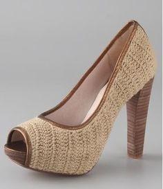 Universo da Moda & Cia.: Sapatos de crochê