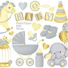 Baby Girl Clipart, Baby Shower Clipart, Baby Shower Labels, Fun Crafts, Paper Crafts, Eid Stickers, Birthday Clipart, Baby Clip Art, Blog Planner