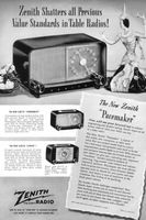 Zenith Pacemaker Table Radio 1948 Ad Picture