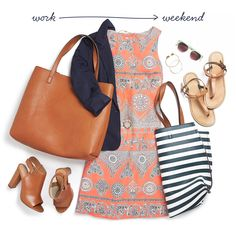 Lucky enough to celebrate half-day Summer Fridays? Transition seamlessly from work to weekend with a colorful printed shift dress. Simply switch out your office-appropriate accessories with your favorite summer add-ons. Love this effortless look? Sign up for Stitch Fix to receive personalized style tips for your lifestyle.