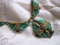 Art Deco jade necklace