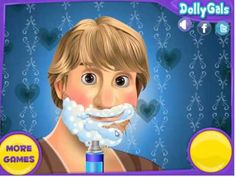 Frozen kristoff in salon game play for childrens,nice game for childrens...