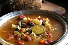 On a cold day when you need warming up, there's nothing better than homemade minestrone soup (serves 10). We like to make the whole recipe and then have it during the week for lunch or a quick dinner, or deliver it to friends and family as a surprise. The ingredient list may be a little long, but most of these should be staples in your kitchen. If not, put them on your list!  Part of the Swedish Healthy Recipes collection (heart healthy, recipe, dinner).