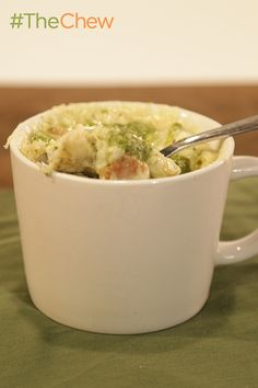 Bread pudding you can make in a mug?! This Pesto Mug Bread Pudding is sure to wow the family!
