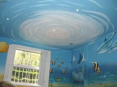 Under the sea bedroom mural