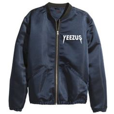 Yeezus jacket ($92) ❤ liked on Polyvore featuring outerwear, jackets, tops, coats & jackets and blue jackets