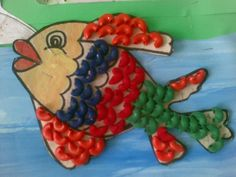 Shree's Crafts for kids.  Colored pasta.