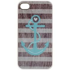 LAND HO! STRIPED ANCHOR IPHONE CASE