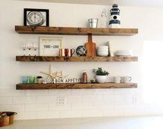 FREE SHIPPING! - Wood Floating Shelves, Primitive Shelf, Floating Shelf