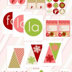 FREE Christmas Party Printables Christmas Party Decorations