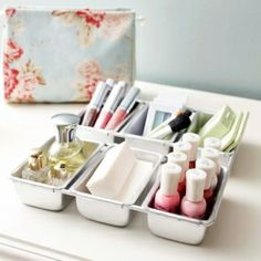 LOVE these! Get Organized: 25 Totally Clever Storage Tips & Tricks for Summer