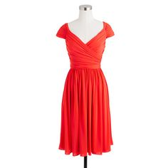 Matilda dress in liquid jersey  - J.Crew  Absolutely love the color and cut! Wish I was doing matching dress just for this- E