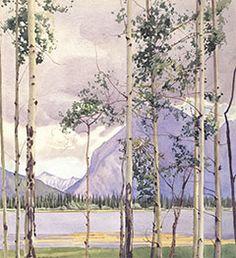 W.J. Phillips - Mount Rundle, Banff Canadian Artists, Banff, British Columbia, Painters, Vancouver, Trees, Canada, Landscape, City
