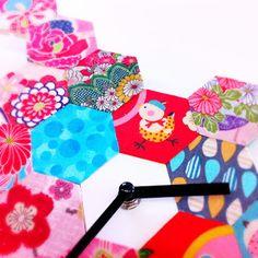 Kimono Reincarnate: The Patchwork Clock - Ikea Hack. Not a quilt but cute