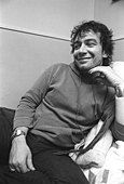 Eric Burdon, singer from The Animals backstage at The Bottom Line in NYC in 1975. - Stock Photo