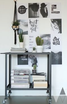Sturdy metal trolley giveaway Lisanne of Klift Workspace Inspiration, Interior Inspiration, Interior Styling, Interior Design, Piece A Vivre, Home And Deco, My New Room, Kitchen Interior, Scandinavian Style