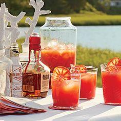 Blood Orange-Bourbon Coolers Recipe | MyRecipes.com