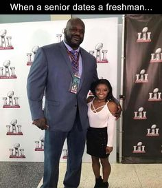 """4 & # 8 """"Olympic gymnast Simone Biles stands next to 1 """"Shaq 😳: spor … - olympic gymnastics Gymnastics Funny, Gymnastics Quotes, Gymnastics Team, Olympic Gymnastics, Gymnastics Problems, Gymnastics Things, Gymnastics Pictures, Easy Cheerleading Stunts, Tumbling Gymnastics"""