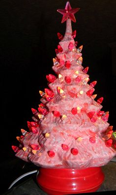 20 Best Ceramic Christmas Trees Vintage Inspired Images In 2019
