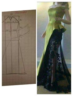 black and white maybe - Salvabrani Do You Aggree Such Beautiful Image gallery – Page 377809856243132992 – Artofit Evening Dress Patterns, Dress Sewing Patterns, Clothing Patterns, Gown Pattern, Pants Pattern, Pattern Cutting, Pattern Making, Barbie Mode, Diy Mode