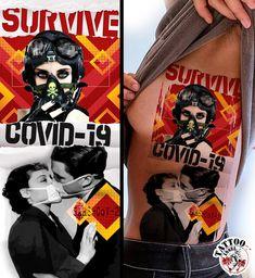 sars-cov-2 tattoo motiv von der tattooinsel Survival, Joker, Comic Books, Comics, Tattoos, Fictional Characters, Art, Angel Tattoo Men, Art Background
