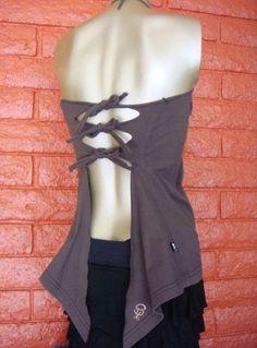 Halter/ tie back cut shirt