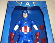 "TOY SLAYER - NECA MARVEL AVENGERS 18"" CAPTAIN AMERICA 1/4 SCALE ACTION FIGURE, $79.99 (http://www.toyslayer.com/neca-marvel-avengers-18-captain-america-1-4-scale-action-figure/)"