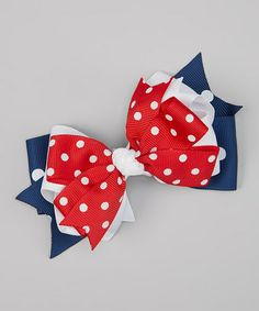 Love this Red, White & Blue Triple Layer Bow Clip by Bubbly Bows on #zulily! #zulilyfinds